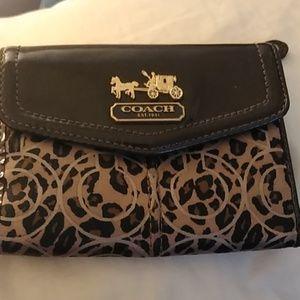 Coach lepard wallet